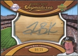 2007 Upper Deck Sweet Spot Signatures Bat Barrel Silver Ink #TB Travis Buck Autograph /25