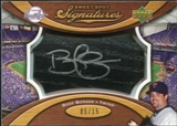 2007 Upper Deck Sweet Spot Signatures Black Bat Barrel Silver Ink #BB Boof Bonser /15