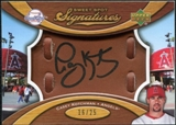 2007 Upper Deck Sweet Spot Signatures Glove Leather Black Ink #CK Casey Kotchman /25