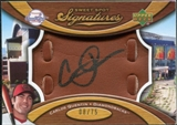 2007 Upper Deck Sweet Spot Signatures Glove Leather Black Ink #CQ Carlos Quentin Autograph /75