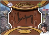 2007 Upper Deck Sweet Spot Signatures Glove Leather Black Ink #CY Chris Young Autograph /75