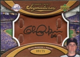 2007 Upper Deck Sweet Spot Signatures Glove Leather Black Ink #GP Glen Perkins /75