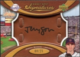 2007 Upper Deck Sweet Spot Signatures Glove Leather Black Ink #JS Jeremy Sowers Autograph /25