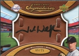 2007 Upper Deck Sweet Spot Signatures Glove Leather Black Ink #JW Josh Willingham /75