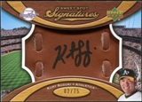 2007 Upper Deck Sweet Spot Signatures Glove Leather Black Ink #KS Kurt Suzuki /75
