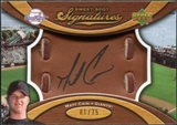 2007 Upper Deck Sweet Spot Signatures Glove Leather Black Ink #MC Matt Cain Autograph /75