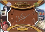 2007 Upper Deck Sweet Spot Signatures Glove Leather Silver Ink #CQ Carlos Quentin Autograph /25