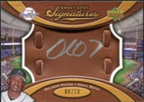 2007 Upper Deck Sweet Spot Signatures Glove Leather Silver Ink #DY Delmon Young Autograph /10