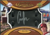 2007 Upper Deck Sweet Spot Signatures Black Glove Leather Silver Ink #CJ Conor Jackson Autograph /25