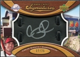 2007 Upper Deck Sweet Spot Signatures Black Glove Leather Silver Ink #CQ Carlos Quentin Autograph /25