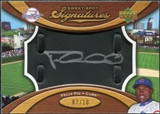 2007 Upper Deck Sweet Spot Signatures Black Glove Leather Silver Ink #FP Felix Pie Autograph /10