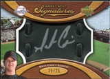 2007 Upper Deck Sweet Spot Signatures Black Glove Leather Silver Ink #MC Matt Cain Autograph /25