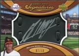 2007 Upper Deck Sweet Spot Signatures Black Glove Leather Silver Ink #MM Melvin Mora Autograph /10