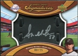2007 Upper Deck Sweet Spot Signatures Black Glove Leather Silver Ink #SE Sergio Mitre Autograph /25