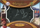 2007 Upper Deck Sweet Spot Signatures Black Glove Leather Silver Ink #YG Chris B. Young /25