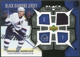 2007/08 Upper Deck Black Diamond Jerseys #BDJBM Brendan Morrison
