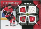 2007/08 Upper Deck Black Diamond Jerseys #BDJCP Chris Phillips