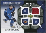 2007/08 Upper Deck Black Diamond Jerseys #BDJIK Ilya Kovalchuk