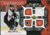 2007/08 Upper Deck Black Diamond Jerseys #BDJJC Jeff Carter