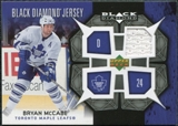 2007/08 Upper Deck Black Diamond Jerseys #BDJMC Bryan McCabe