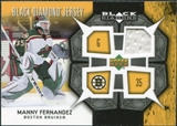 2007/08 Upper Deck Black Diamond Jerseys #BDJMF Manny Fernandez