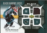 2007/08 Upper Deck Black Diamond Jerseys #BDJMM Milan Michalek