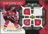 2007/08 Upper Deck Black Diamond Jerseys #BDJPE Patrik Elias