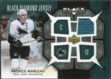 2007/08 Upper Deck Black Diamond Jerseys #BDJPM Patrick Marleau