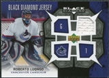 2007/08 Upper Deck Black Diamond Jerseys #BDJRL Roberto Luongo