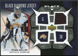 2007/08 Upper Deck Black Diamond Jerseys #BDJRM Ryan Miller