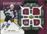 2007/08 Upper Deck Black Diamond Jerseys #BDJSA Joe Sakic