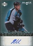 2007/08 Upper Deck Black Diamond Gemography #GCH Jonathan Cheechoo Autograph