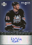 2007/08 Upper Deck Black Diamond Gemography #GEF Eric Fehr Autograph