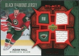 2007/08 Upper Deck Black Diamond Jerseys Ruby Dual #BDJAH Adam Hall /100
