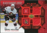 2007/08 Upper Deck Black Diamond Jerseys Ruby Dual #BDJAM Andrej Meszaros /100