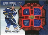 2007/08 Upper Deck Black Diamond Jerseys Ruby Dual #BDJBJ Barret Jackman /100