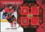 2007/08 Upper Deck Black Diamond Jerseys Ruby Dual #BDJCP Chris Phillips /100