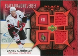 2007/08 Upper Deck Black Diamond Jerseys Ruby Dual #BDJDA Daniel Alfredsson /100