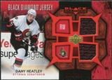2007/08 Upper Deck Black Diamond Jerseys Ruby Dual #BDJDH Dany Heatley /100