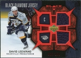 2007/08 Upper Deck Black Diamond Jerseys Ruby Dual #BDJDL David Legwand /100