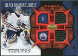 2007/08 Upper Deck Black Diamond Jerseys Ruby Dual #BDJDR Dwayne Roloson /100