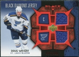 2007/08 Upper Deck Black Diamond Jerseys Ruby Dual #BDJDW Doug Weight /100