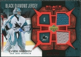 2007/08 Upper Deck Black Diamond Jerseys Ruby Dual #BDJEN Evgeni Nabokov /100