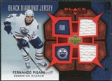 2007/08 Upper Deck Black Diamond Jerseys Ruby Dual #BDJFP Fernando Pisani /100