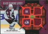 2007/08 Upper Deck Black Diamond Jerseys Ruby Dual #BDJHE Milan Hejduk /100