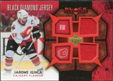 2007/08 Upper Deck Black Diamond Jerseys Ruby Dual #BDJJI Jarome Iginla /100