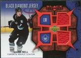 2007/08 Upper Deck Black Diamond Jerseys Ruby Dual #BDJMB Mark Bell /100