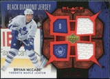 2007/08 Upper Deck Black Diamond Jerseys Ruby Dual #BDJMC Bryan McCabe /100