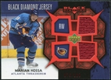 2007/08 Upper Deck Black Diamond Jerseys Ruby Dual #BDJMH Marian Hossa /100