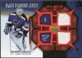2007/08 Upper Deck Black Diamond Jerseys Ruby Dual #BDJML Manny Legace /100